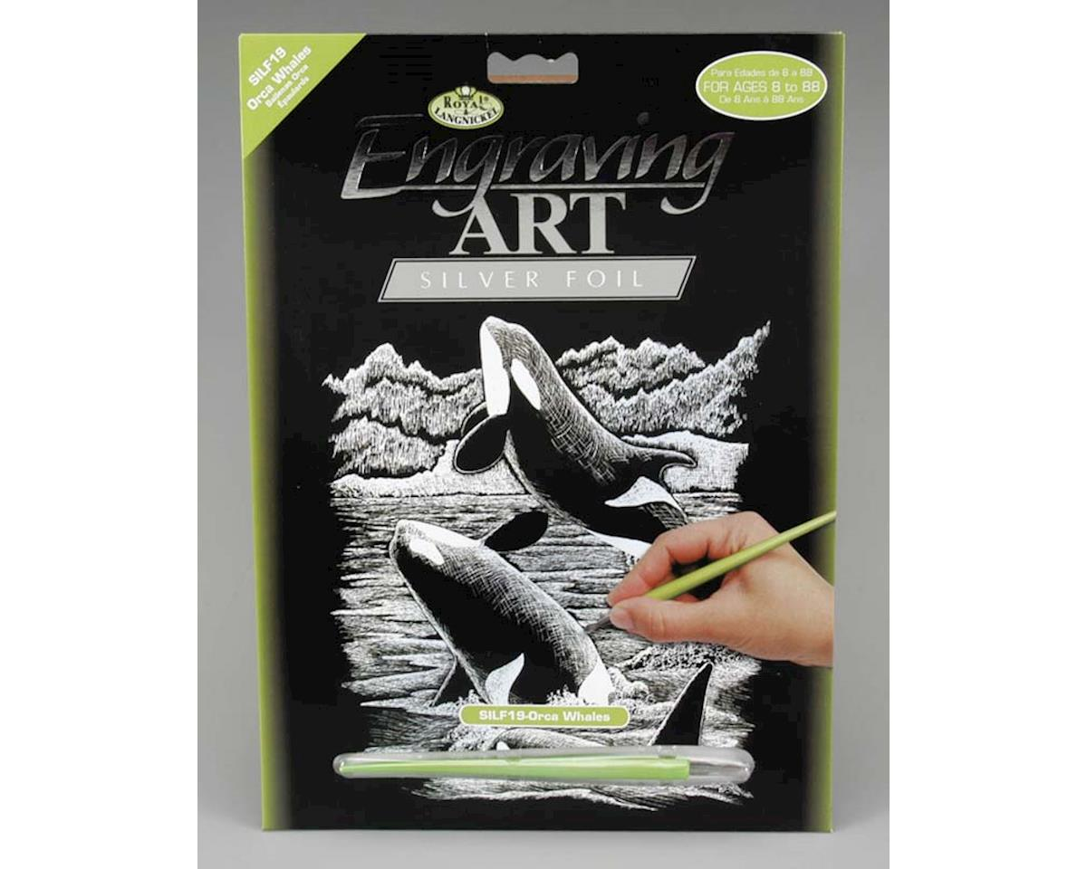 Royal Brush Manufacturing SILF19 Silver Foil Orca Whale