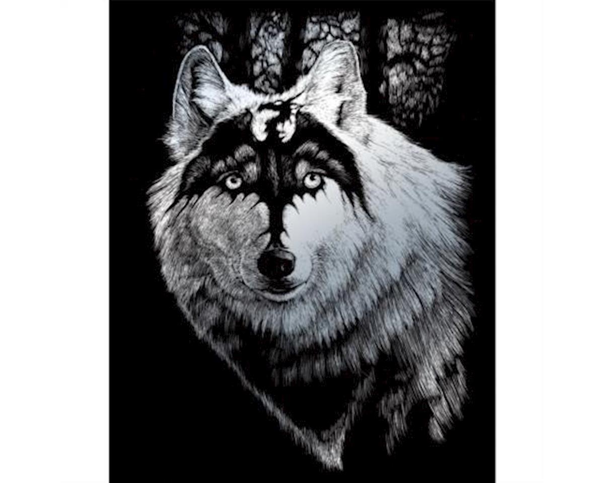 Royal Brush Manufacturing Royal Brush  Silver Engraving Art Dragon Wolf