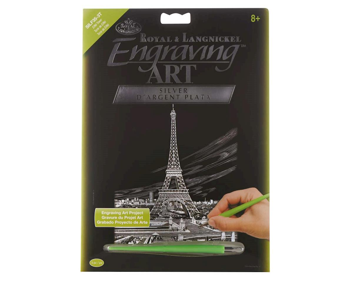 SILF35 Silver EA Eiffel Tower by Royal Brush Manufacturing