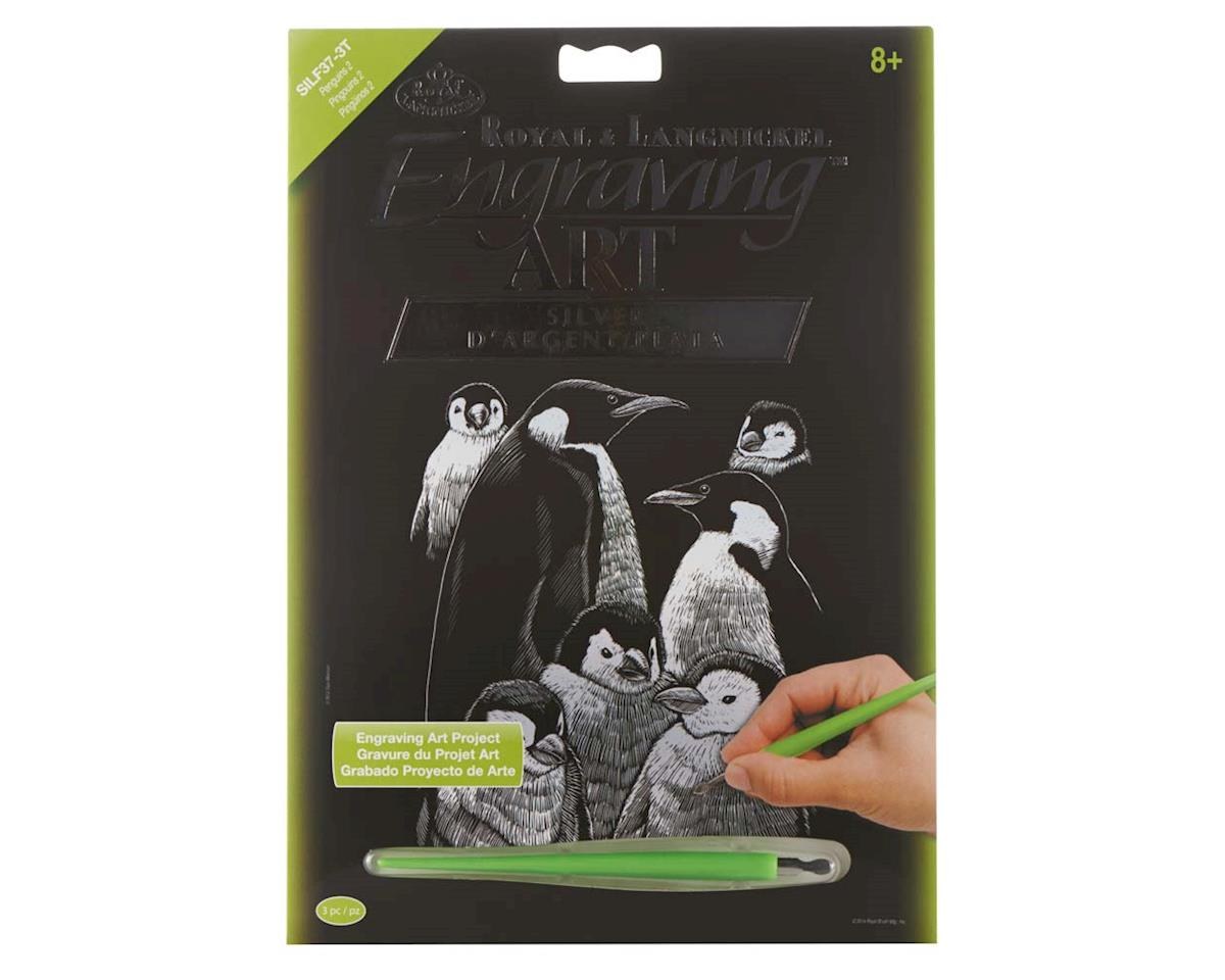 SILF37 Silver EA Penguins 2 by Royal Brush Manufacturing