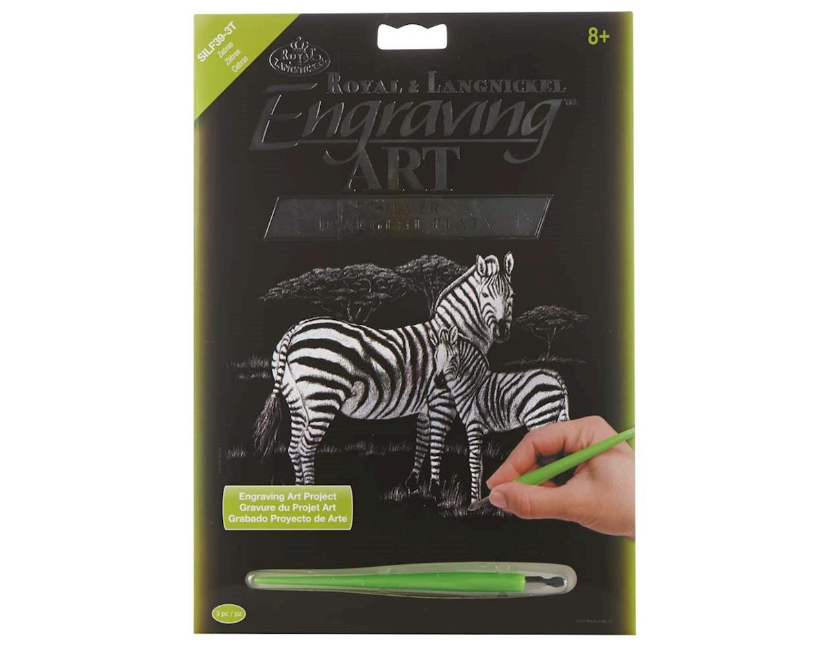 SILF39 Silver EA Zebras by Royal Brush Manufacturing