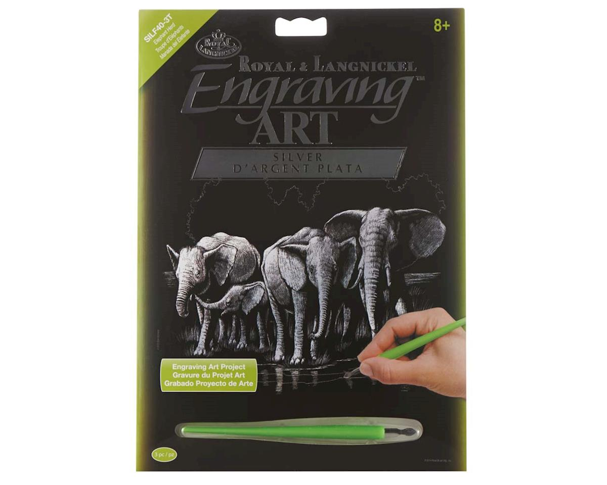 Royal Brush Manufacturing SILF40 Silver EA Elephant Herd