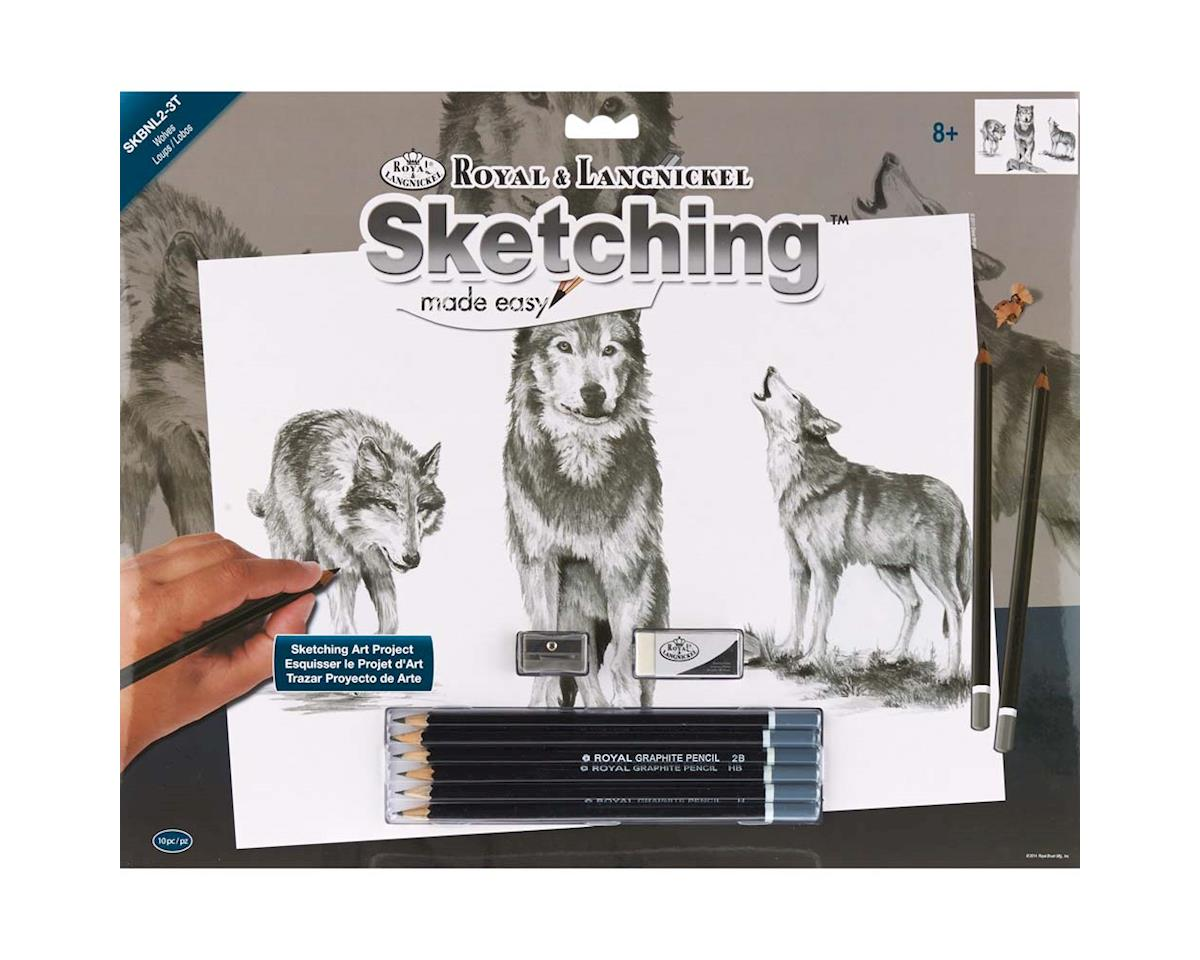 Royal Brush Manufacturing SKBNL-2 Sketch Easy Standard Wolves