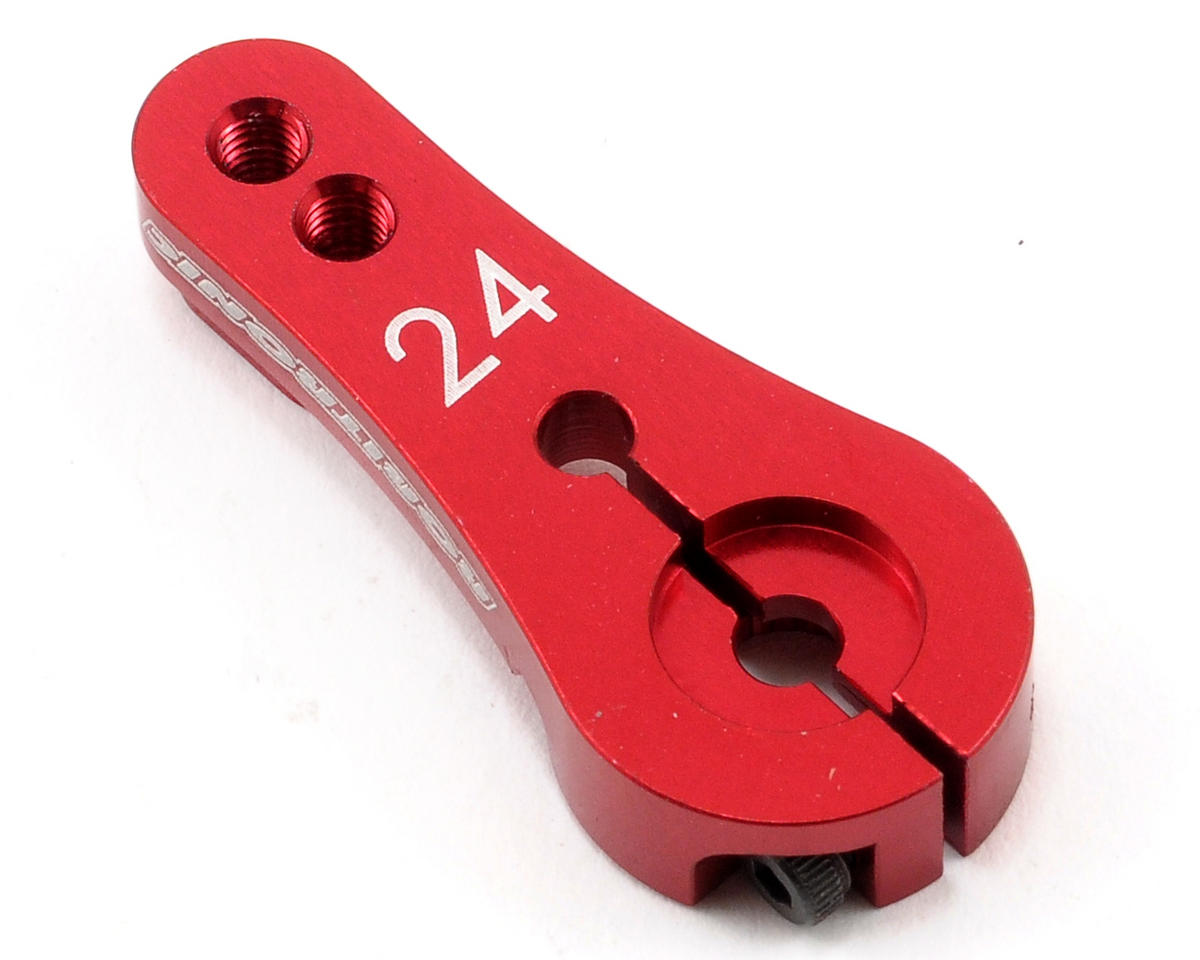 Robitronic Machined Aluminum Single Sided Servo Horn (Red) (24T-Hitec)