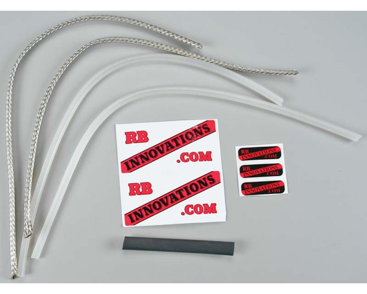 "BF650A-01 Braided Fuel Line Kit Univ 24"" Alum"