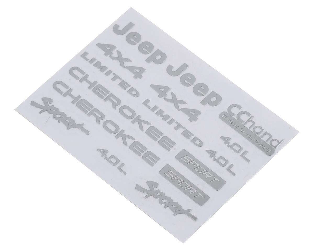 RC4WD CChand Axial SCX10 II XJ Metal Emblem Set (Silver)