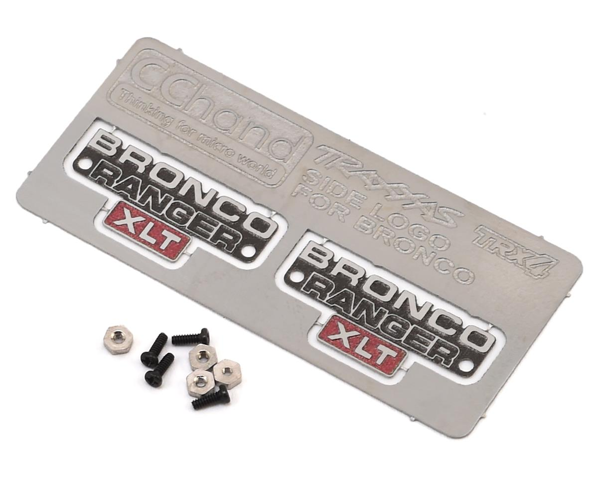 RC4WD CChand TRX-4 Bronco Side Metal Emblem