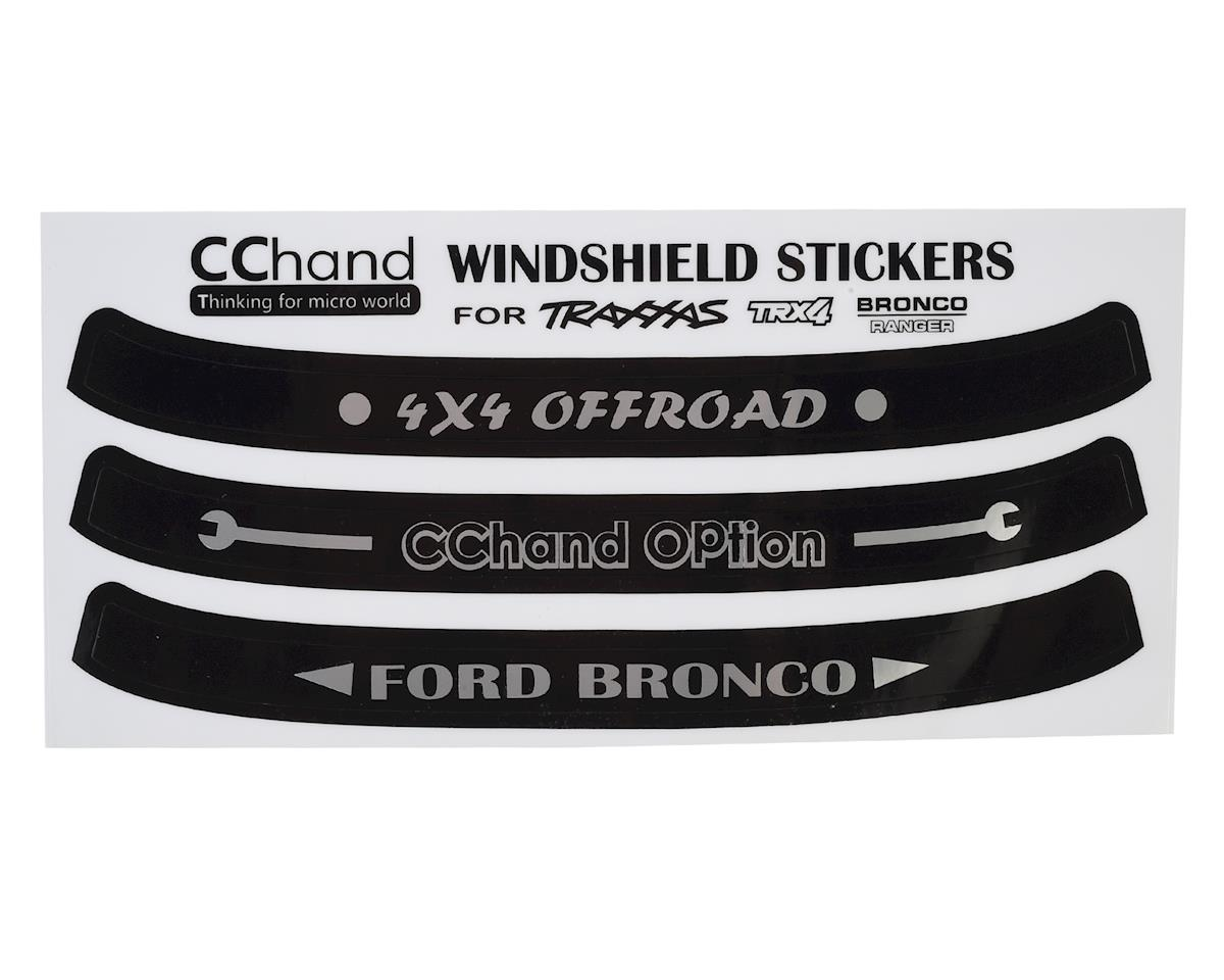 RC4WD CChand TRX-4 Bronco Windshield Decals