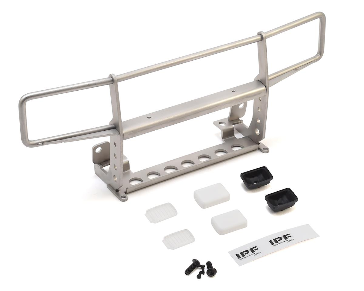 CChand TRX-4 Bronco Ranch Front Grille Guard w/Lights (Silver) by RC4WD
