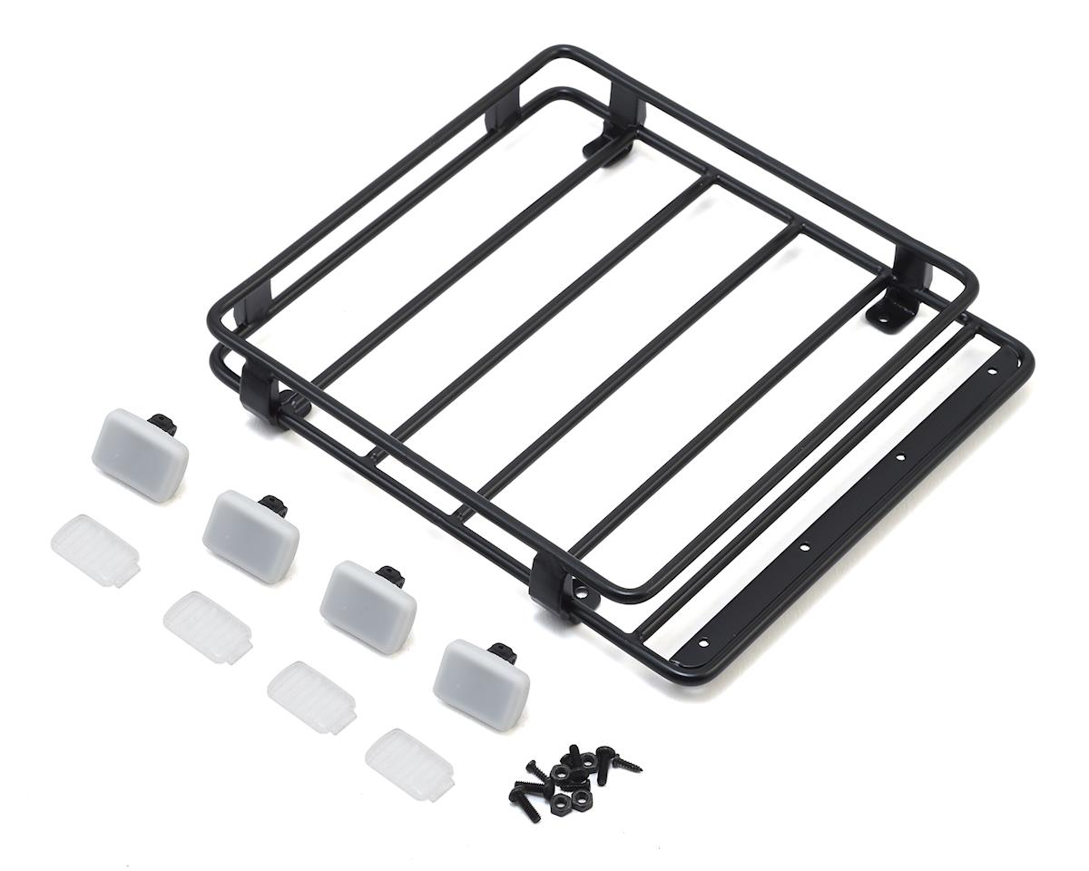 RC4WD CChand 2001 Toyota Tacoma Steel Roof Rack w/IPF Light Buckets