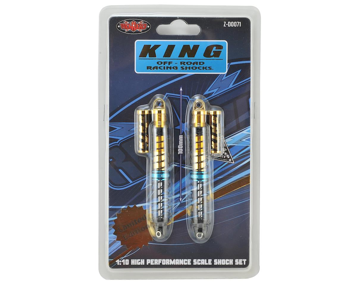 King Off-Road Limited Edition Scale Piggyback Shocks (100mm) (Gold) by RC4WD