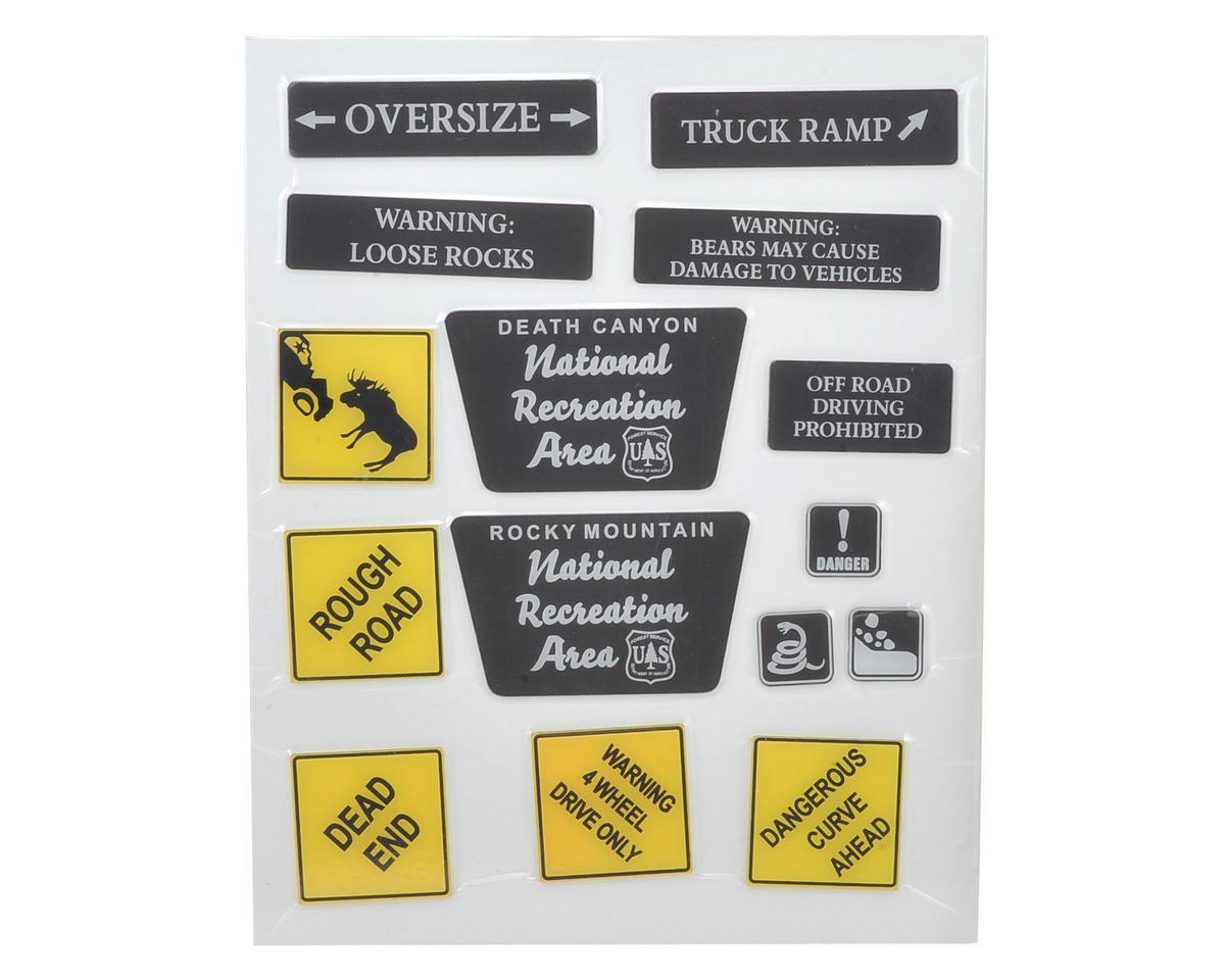 RC4WD Plastic Tough Terrain Scale Signs
