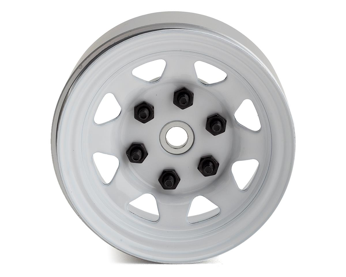 "RC4WD Stamped Steel Single 1.55"" Stock White Beadlock Wheel"