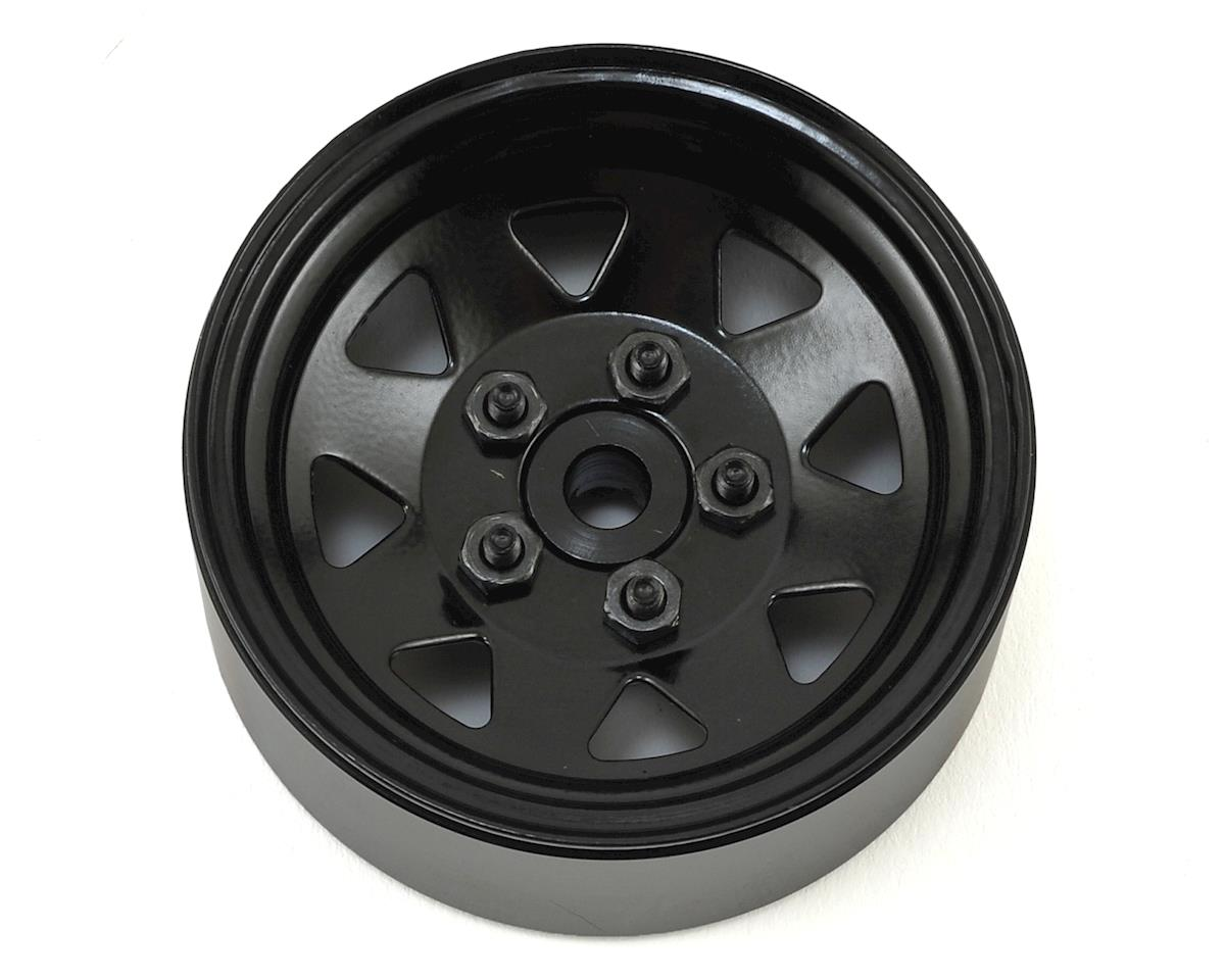 RC4WD 5 Lug Wagon 1.9 Stamped Single Steel Beadlock Wheel (Black) (Axial SCX10)