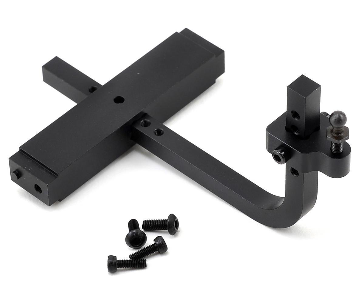 RC Car Crawler Alloy Adjustable Drop Hitch Receiver Black For Axial SCX10 RC4WD