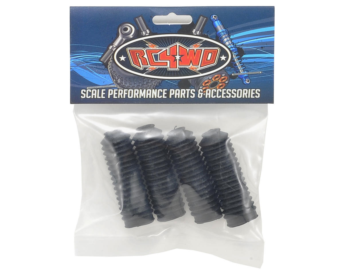 RC4WD Super Scale Shock Boot (4) (Black)
