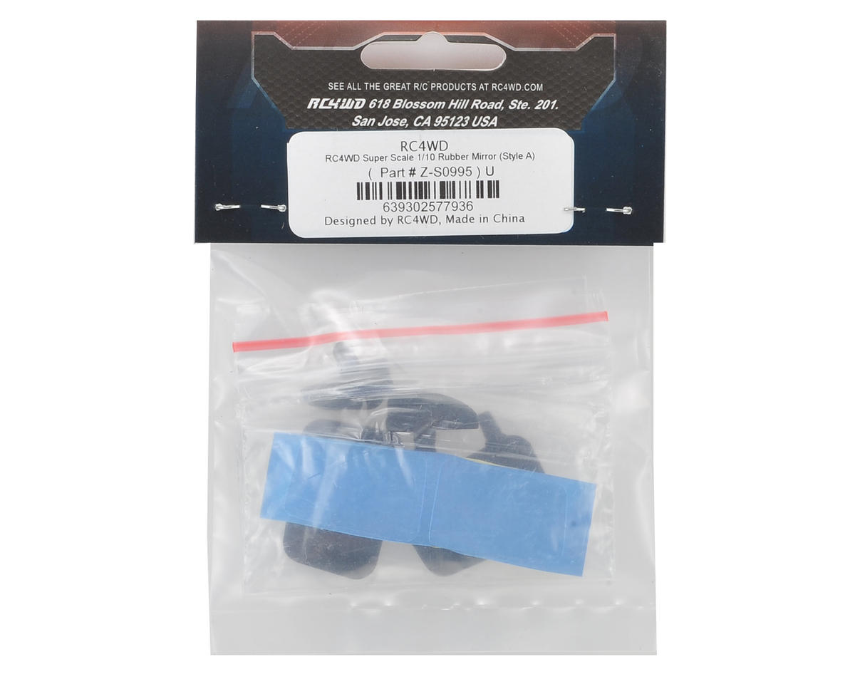 RC4WD 1/10 Super Scale Rubber Mirror (Style A)