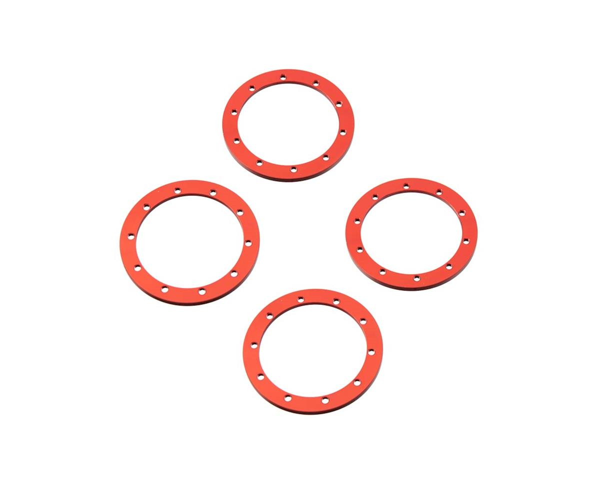 RC4WD Z-S1249 Red 1.9 Universal Beadlock Rings (4)