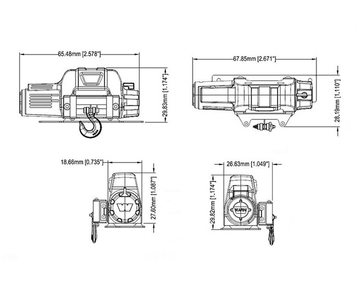 Rc4wd Mini Warn 95cti Winch Rc4zs1571 Rock Crawlers Amain Hobbies 1000 Ac Motor Wiring Diagram