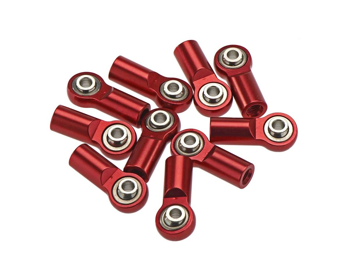 RC4WD Short Straight Alum Rod Ends M3/M4 (Red) (10)