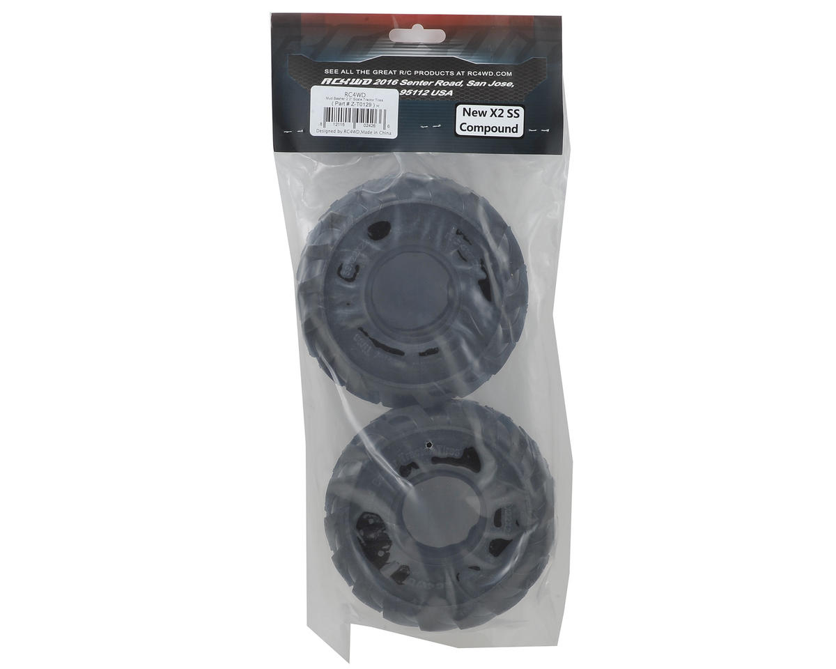 "RC4WD Mud Basher 2.2"" Scale Tractor Tires (2) (X2)"