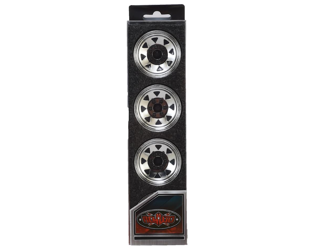 6 Lug Wagon 1.9 Stamped Steel Beadlock Wheel (Chrome) by RC4WD