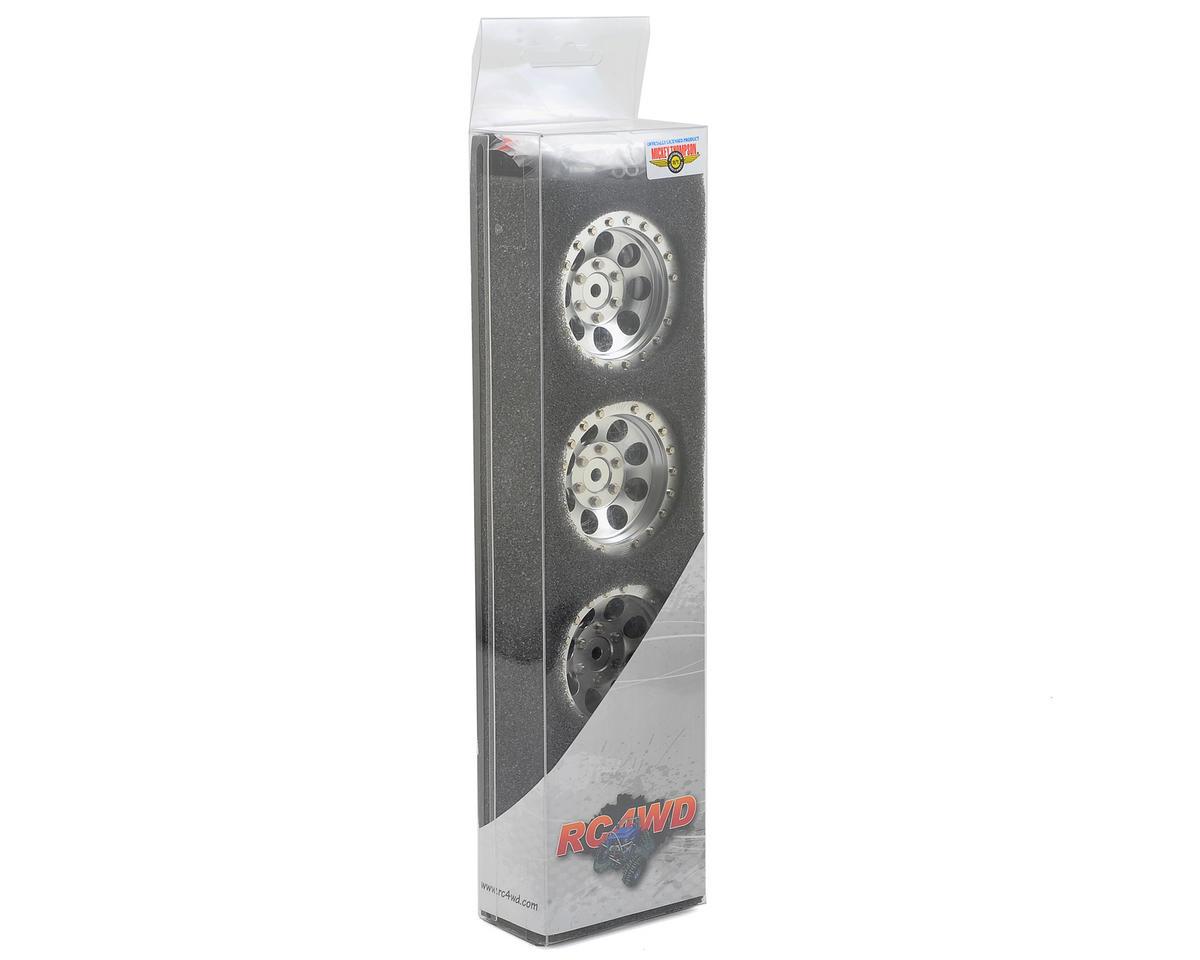 RC4WD M/T Classic Lock 1.9 Aluminum Beadlock Crawler Wheel (4) (Silver)