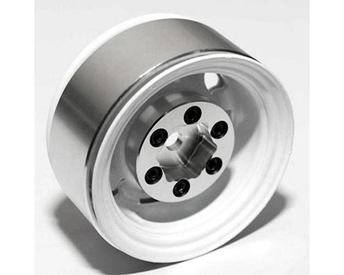 "RC4WD Stamped Steel 1.55"" Stock White Beadlock Wheels (4)"