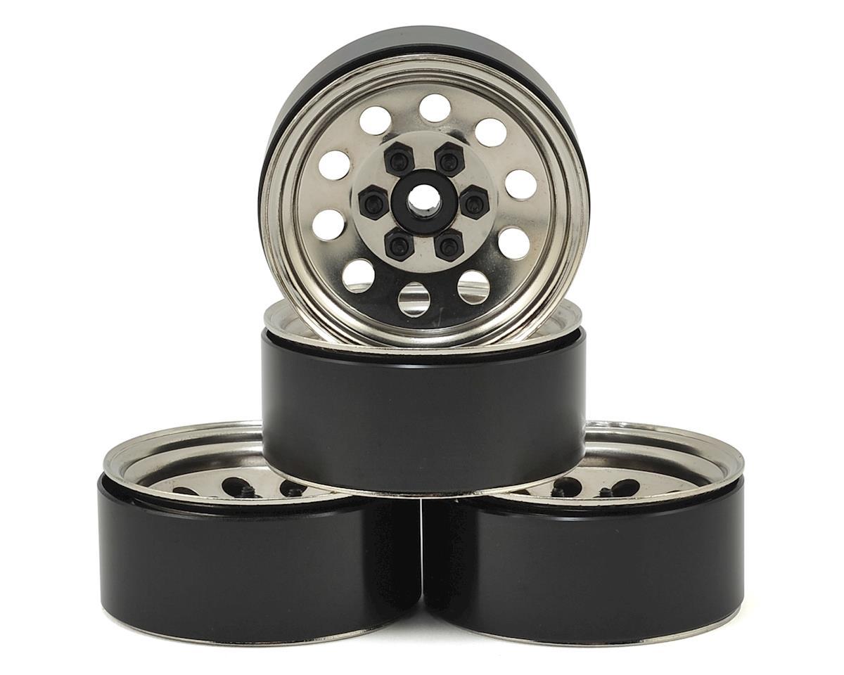 RC4WD Pro10 1.9 Steel Stamped Beadlock Wheel (Silver) (4)