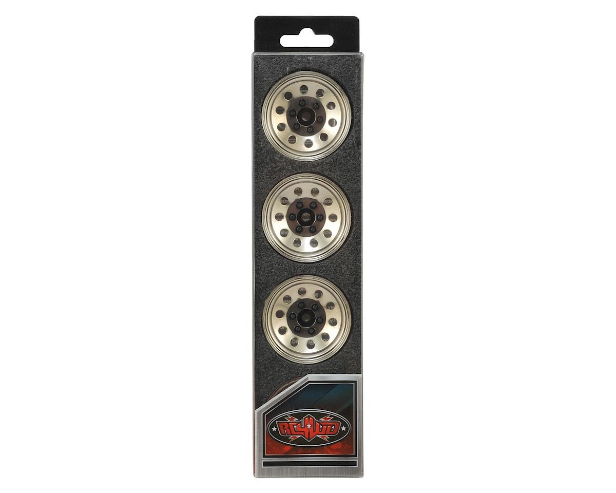 "RC4WD Pro10 1.9"" Steel Stamped Beadlock Wheel (Silver) (4)"