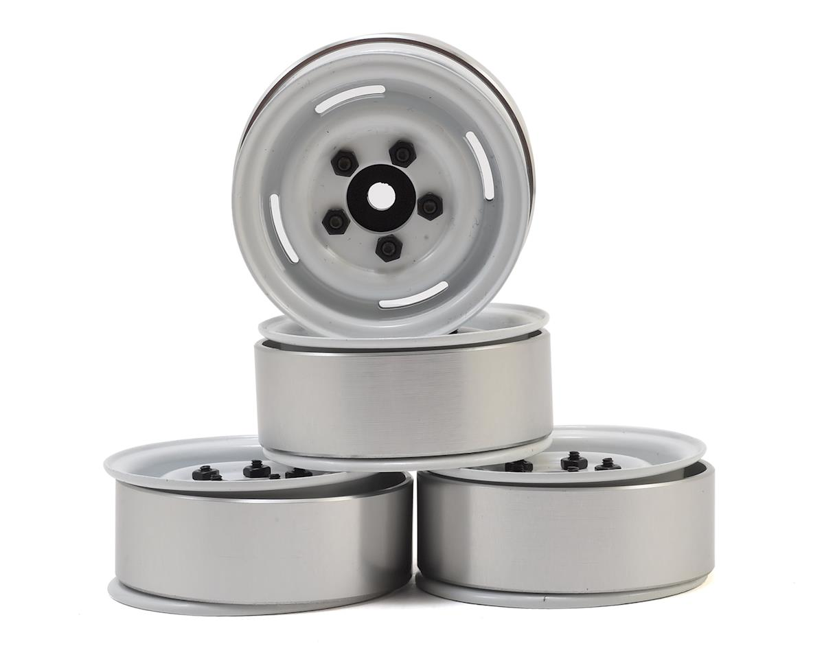 "RC4WD 1.55"" Landies Vintage Stamped Steel Beadlock Wheels (White)"