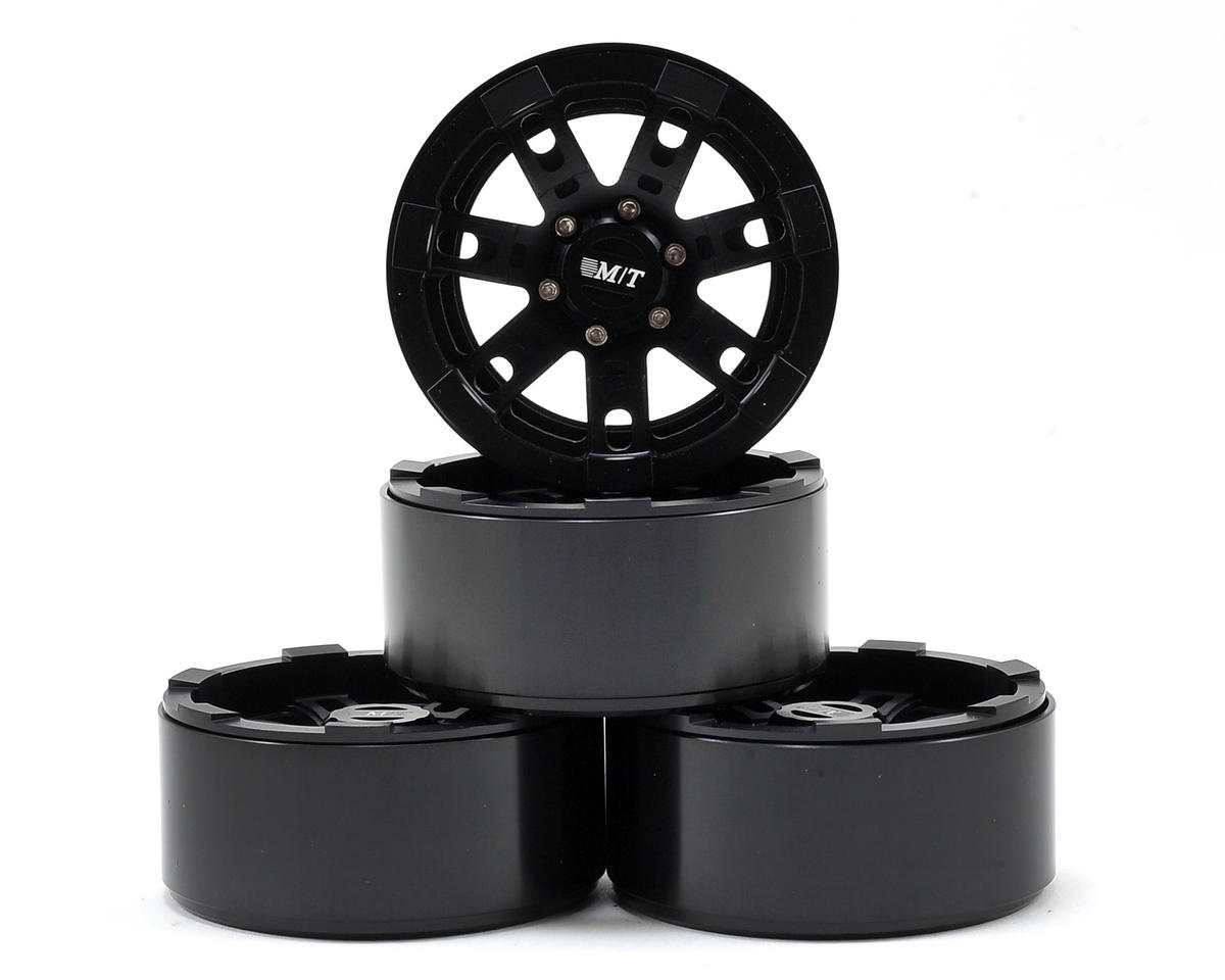 M/T Sidebiter 2.2 Aluminum Beadlock Rock Crawler Wheel (4) (Black) by RC4WD