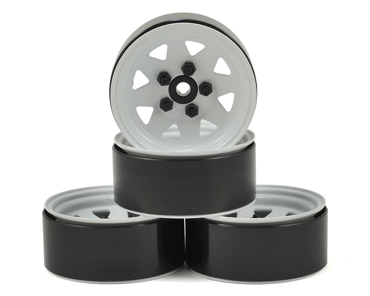 "RC4WD 5 Lug Wagon 1.9"" Steel Stamped Beadlock Wheels (White) (4) (Axial RR10 Bomber)"