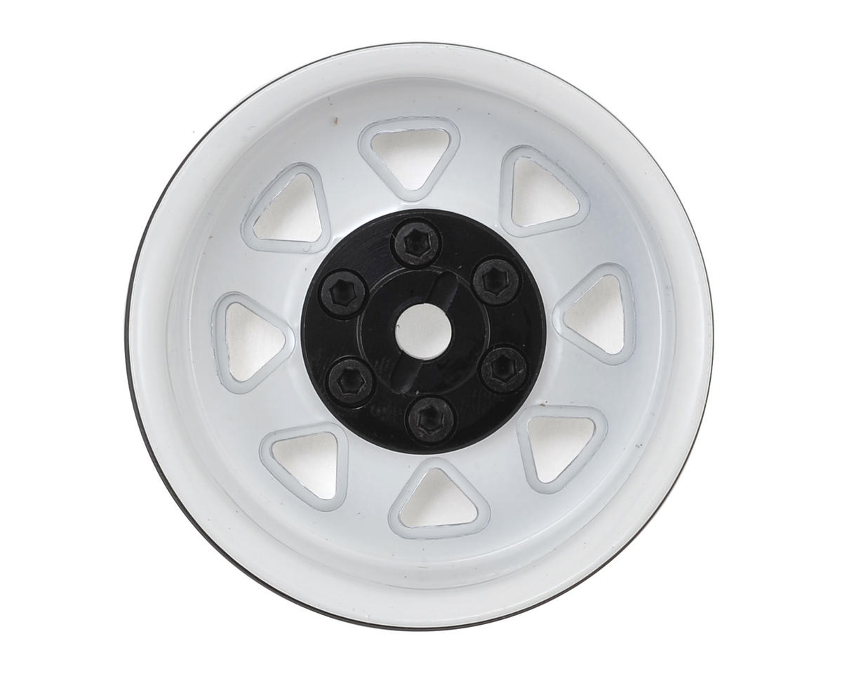 RC4WD 6 Lug Wagon 1.9 Stamped Beadlock Steel Wheel (White) (4)