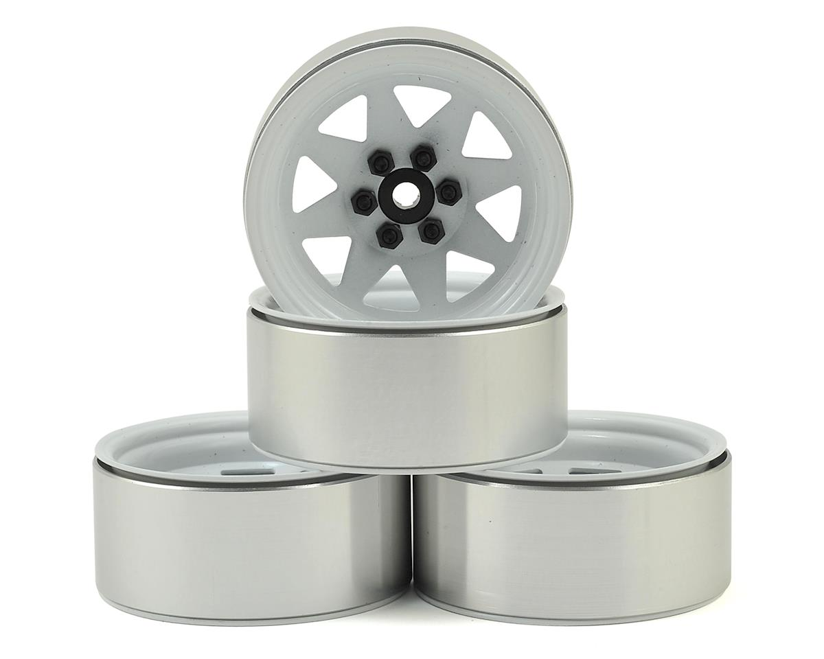6 Lug Wagon 2.2 Steel Stamped Beadlock Wheels (White) (4) by RC4WD