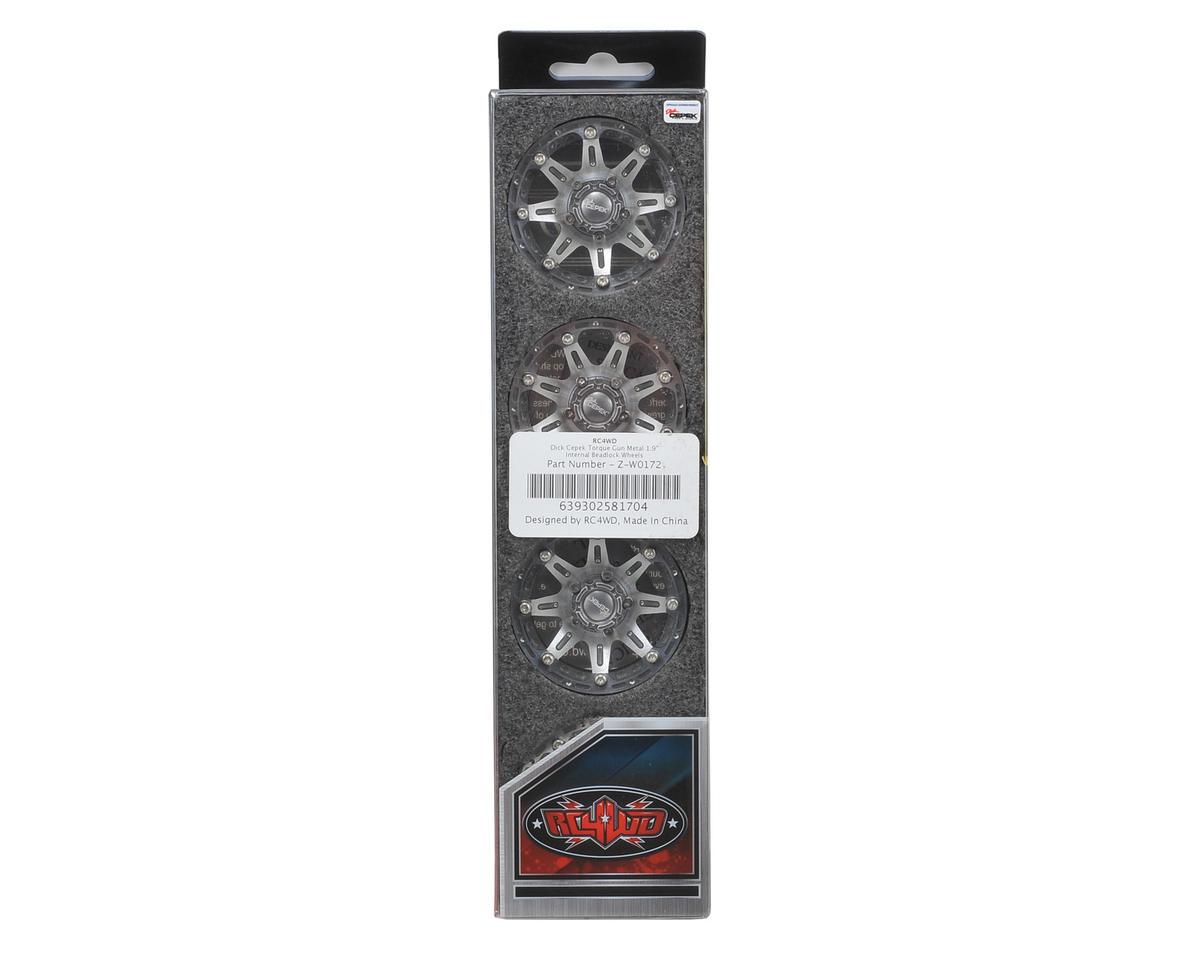 "RC4WD Dick Cepek Torque 1.9"" Aluminum Beadlock Crawler Wheels (4) (Gun Metal)"