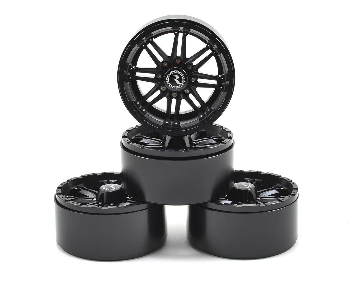 "RC4WD Raceline Octane 2.2"" Aluminum Beadlock Crawler Wheels (4) (Black)"