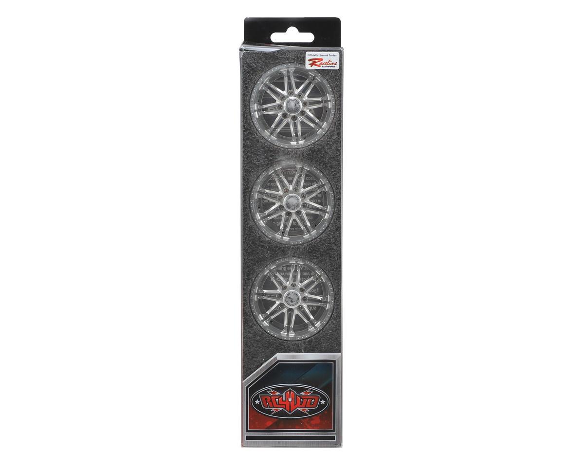 "RC4WD Raceline Octane 2.2"" Aluminum Beadlock Rock Crawler Wheels (4) (Sliver)"