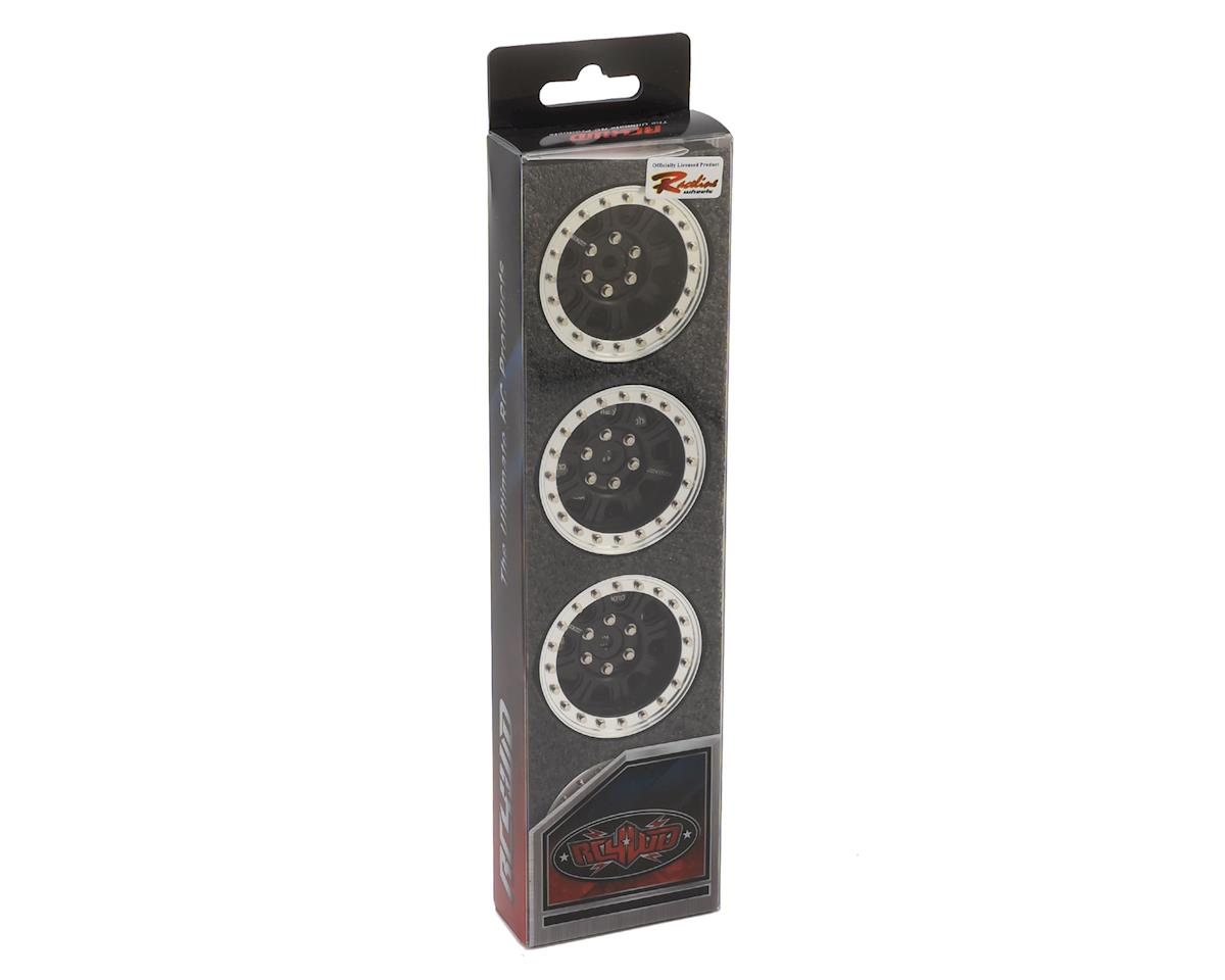 "RC4WD Raceline Monster 1.9"" Beadlock Wheels (Black/Silver) (4)"
