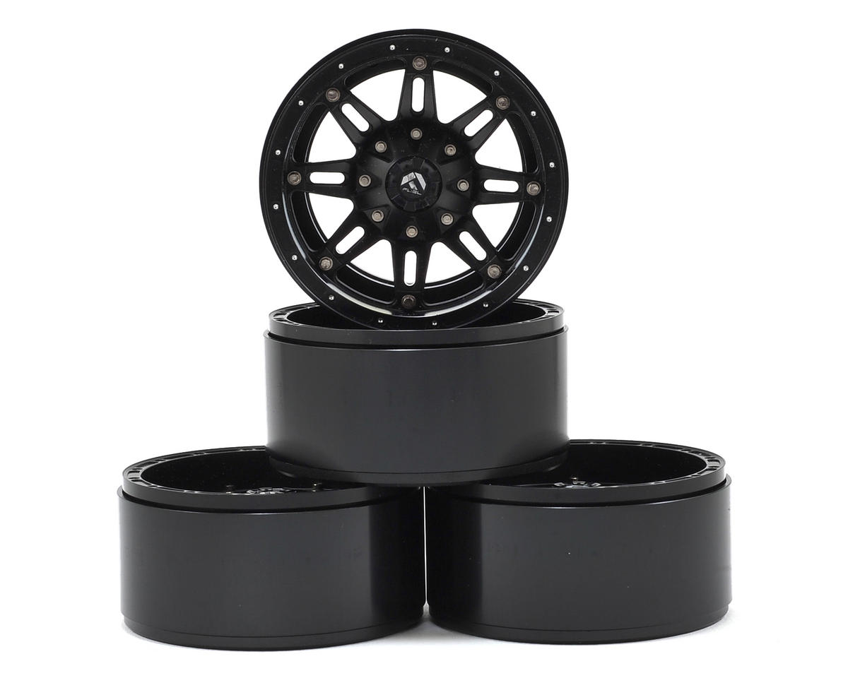 RC4WD Fuel Offroad Hostage 2.2 Aluminum Beadlock Rock Crawler Wheel (4) (Black)