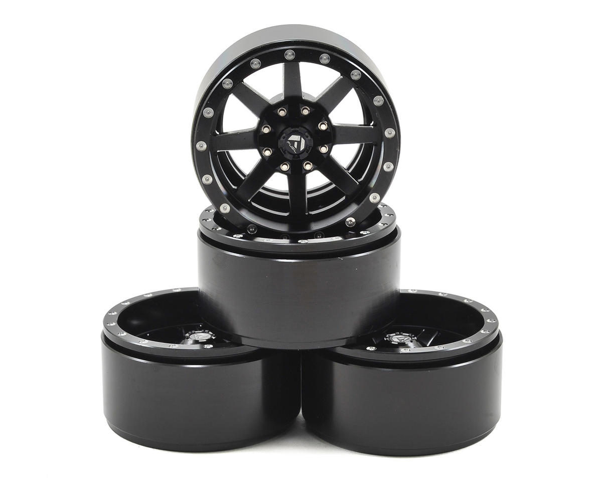 Fuel Offroad Maverick 1.9 Aluminum Beadlock Rock Crawler Wheel (4) (Black) by RC4WD