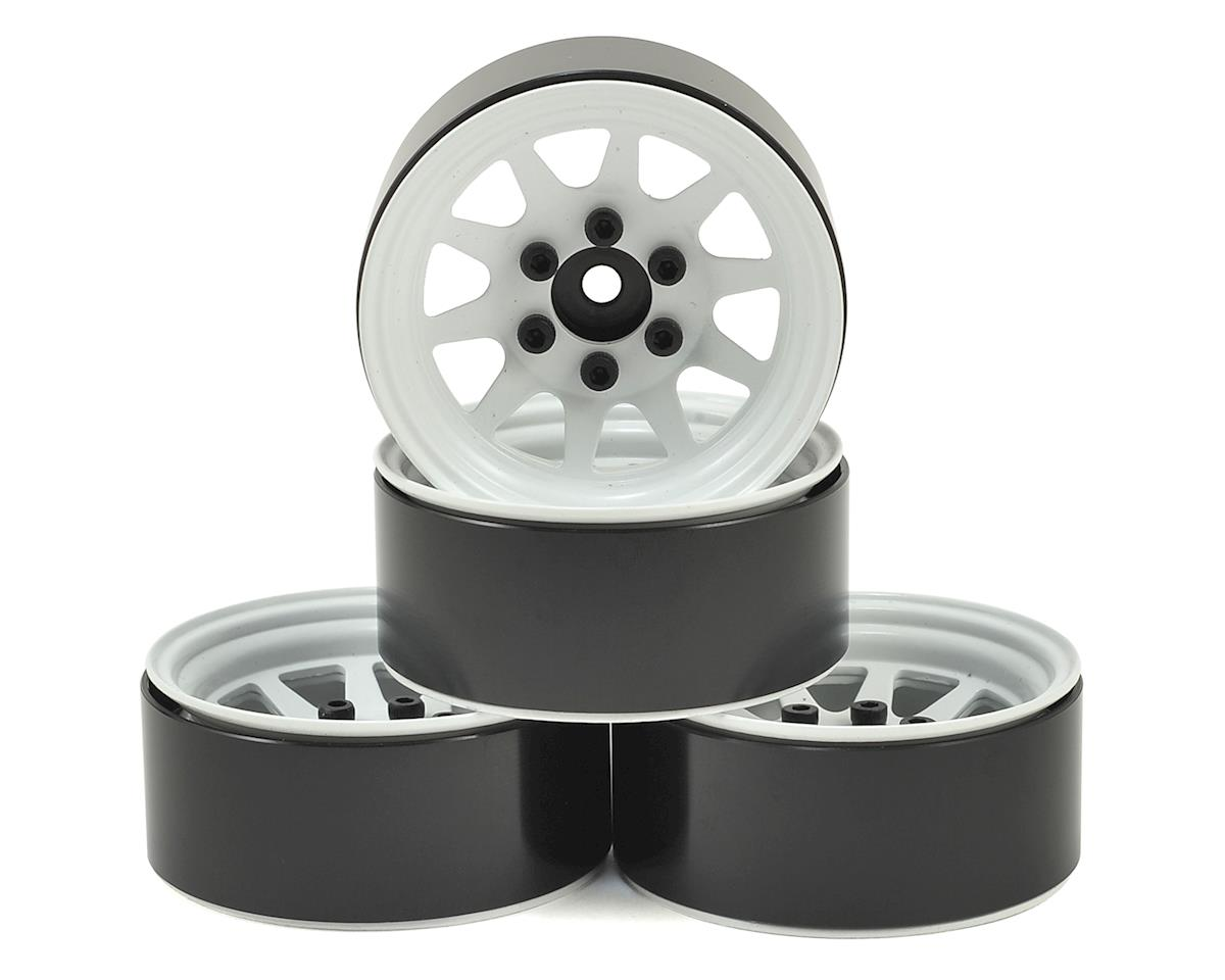 "RC4WD OEM Stamped Steel 1.9"" Beadlock Wheels (White) (GMade Sawback)"