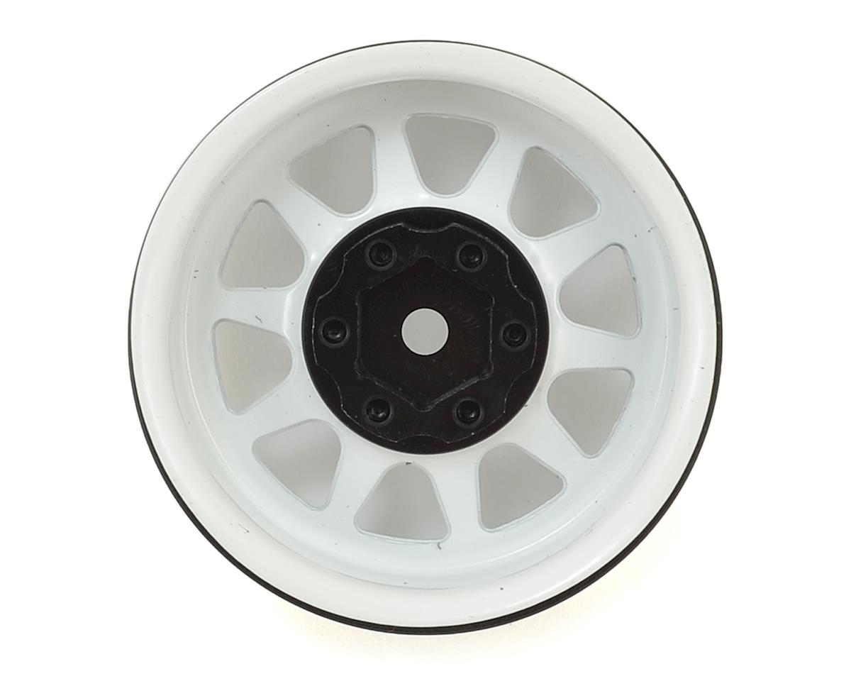 """RC4WD OEM Stamped Steel 1.9"""" Beadlock Wheels (White)"""