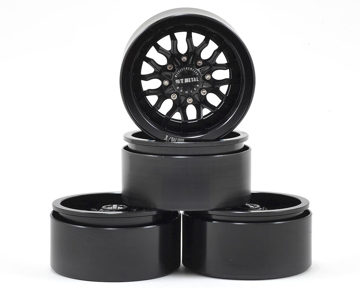 "RC4WD M/T Metal MM489 1.9"" Aluminum Beadlock Crawler Wheels (4) (Black)"