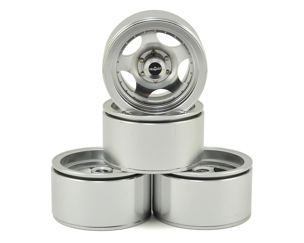 "Breaker 1.9"" Aluminum Beadlock Wheels (Silver) (4) by RC4WD"