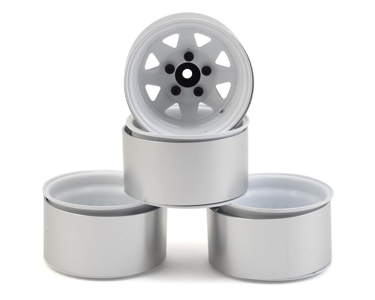 "RC4WD 5 Lug Deep Dish Wagon 1.9"" Steel Stamped Beadlock Wheels (White) (Axial SCX10 II)"