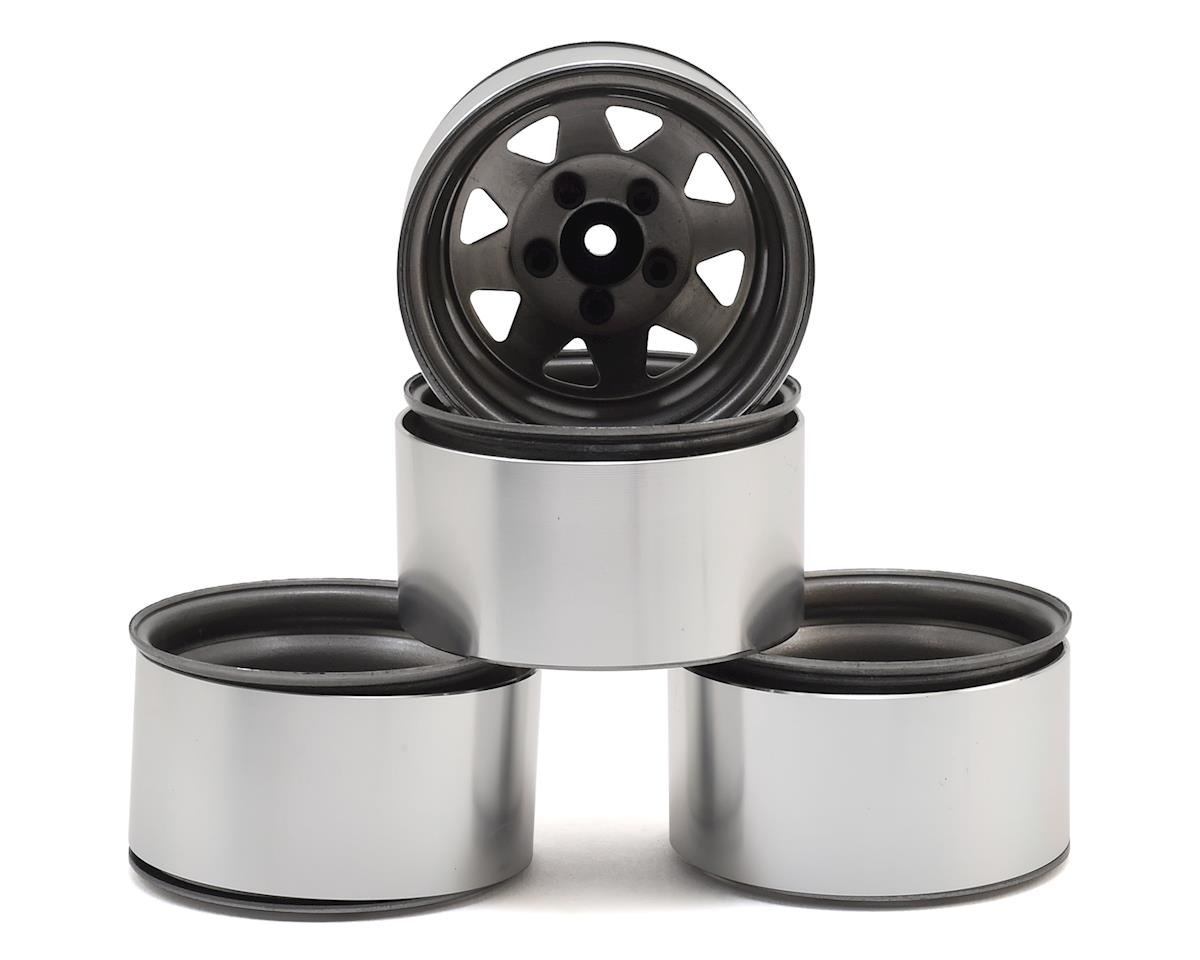 "RC4WD 5 Lug Deep Dish Wagon 1.9"" Steel Stamped Beadlock Wheels (Plain) (GMade Sawback)"