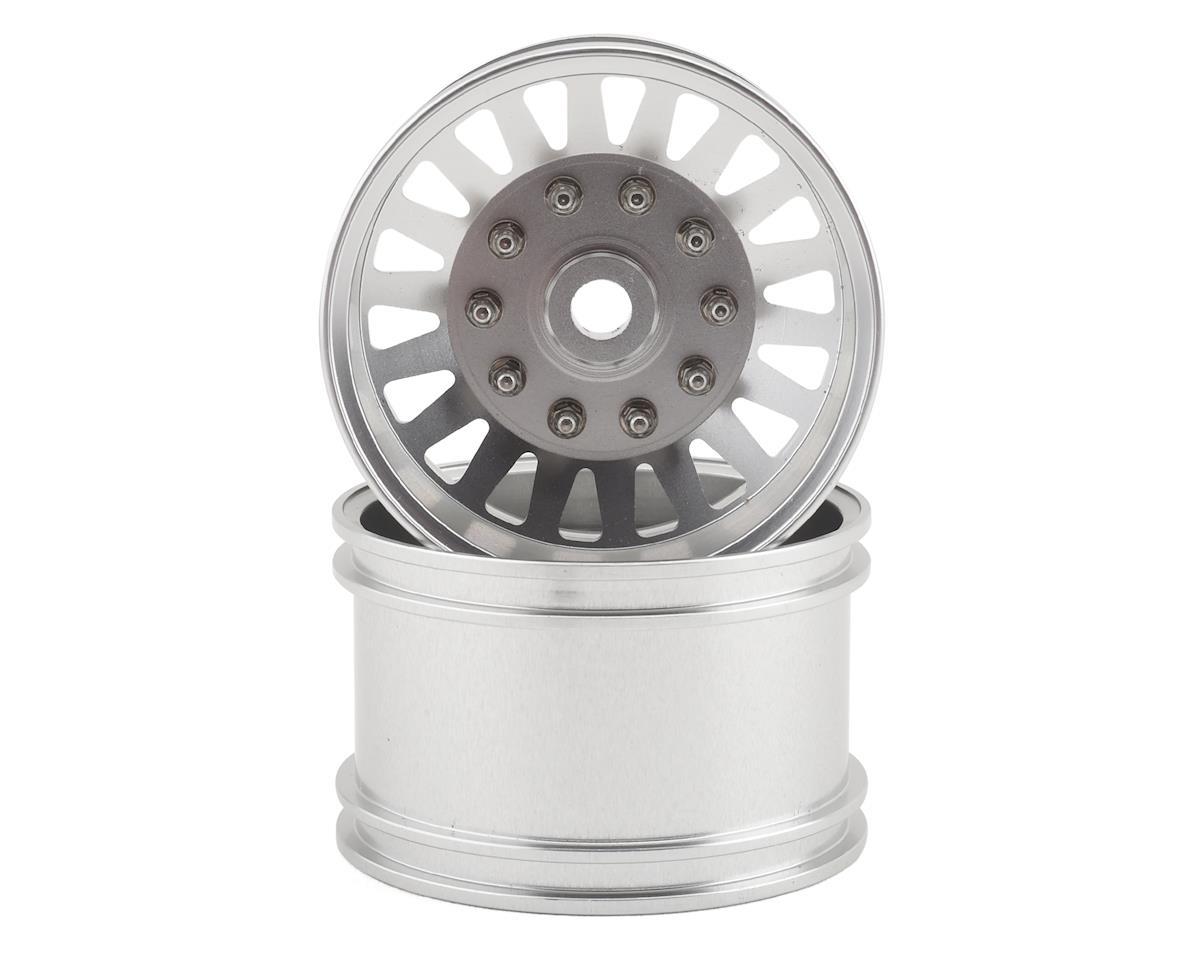 RC4WD Super Single 1.7 Rear Semi Truck Wheel (Silver) (2)