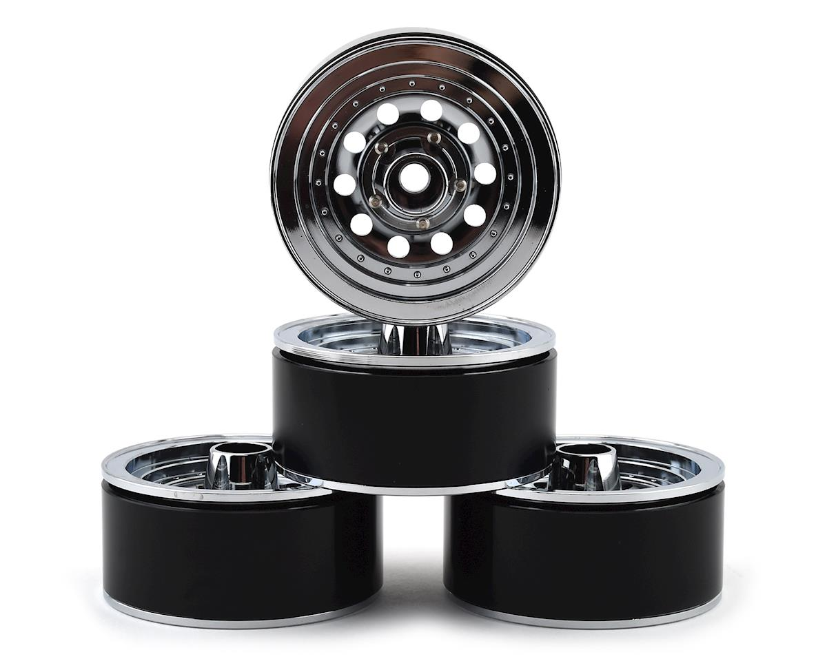 RC4WD Trail Finder 2 Classic 10-Hole 1.9 Aluminum Beadlock Crawler Wheels (Chrome) (4)