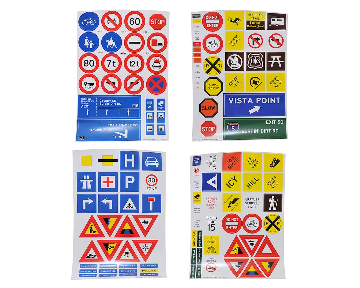 RC4WD Scale Trail Signs Set w/Posts